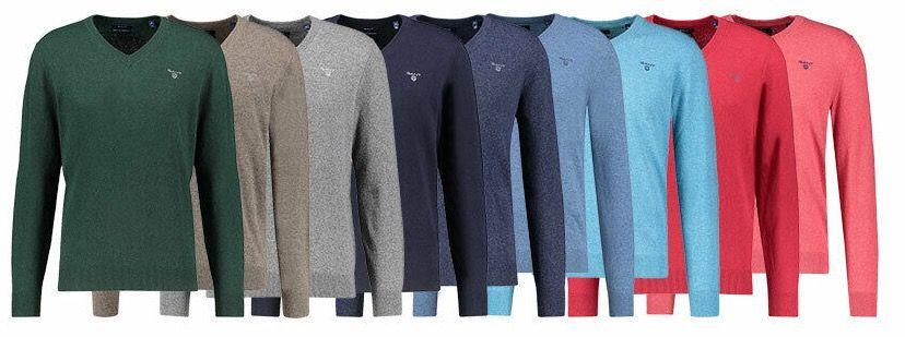 GANT Herren Pullover aus weicher Lammwolle für 49,90€ (statt 59€)