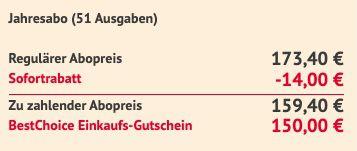 51 Ausgaben Grazia für 159,40€ inkl. 150€ Bestchoice Gutschein