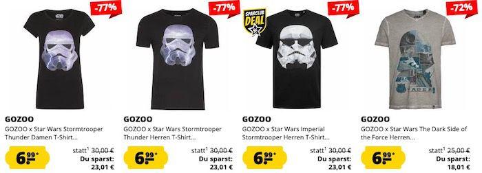 🔥 Keine Versandkosten bei Sportspar   z.B. Star Wars T Shirts je 6,99€ (statt ab 13€)