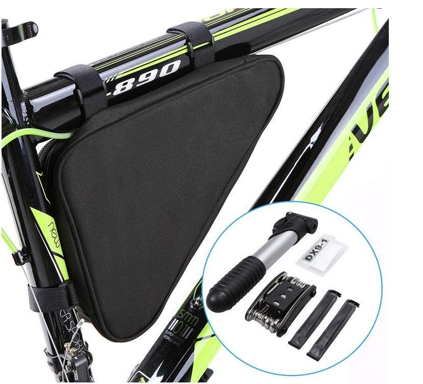 Explopur Fahrrad Triangle Bag inkl. Reparatur Set für 12,99€ Prime (statt 26€)