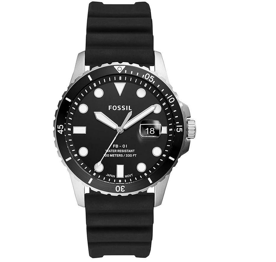 Top! Fossil FS5660 Herren Analog Quarz Uhr mit Silikon Armband für 45€ (statt 82€)