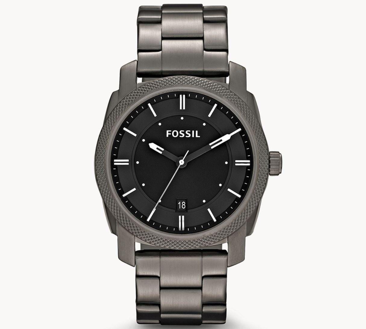 Fossil FS4774 Machine 3 Zeiger/Datum Herren Edelstahl Uhr für 55,79€ (statt 82€)