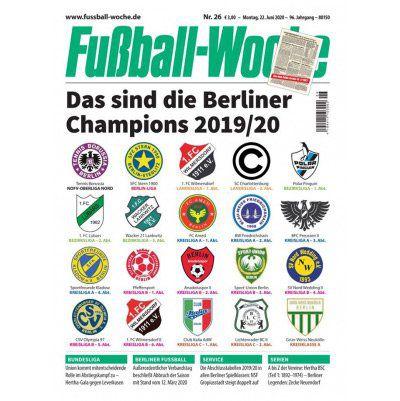 12 Ausgaben Fußball Woche für 36€   Prämie: 35€ Amazon Gutschein