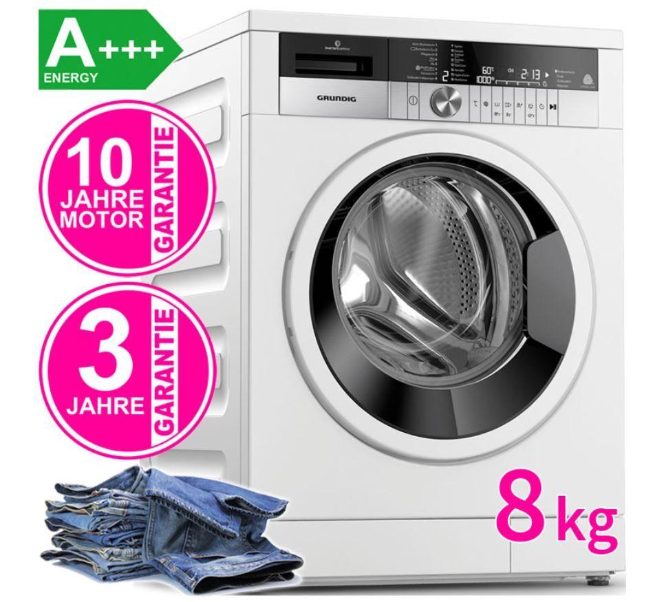 Grundig GWN48440W   8kg Waschmaschine mit Inverter Motor für 359,90€ (statt 499€)