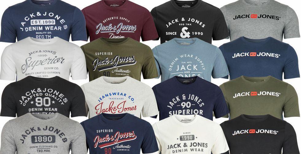Jack & Jones Herren Rundhals T Shirts (teilweise Restgrößen) für je 10,50€ (statt 15€)