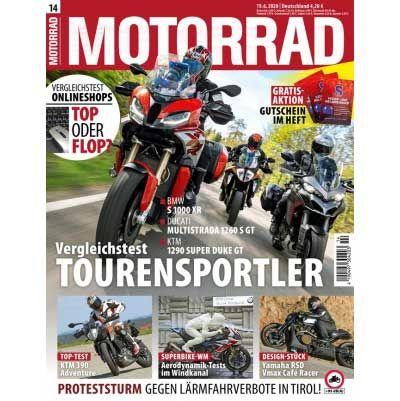 6 Ausgaben MOTORRAD für 29,70€ + 27,30€ Verrechnungsscheck