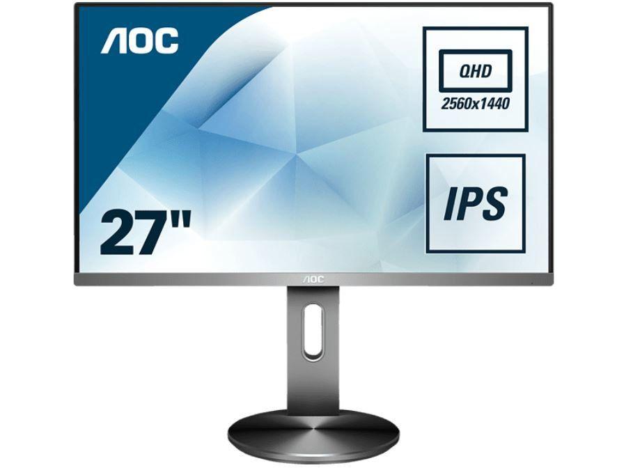 AOC Q2790PQU/BT   27 Zoll IPS Höhenverstellbarer WQHD Monitor für 279€ (statt 344€)