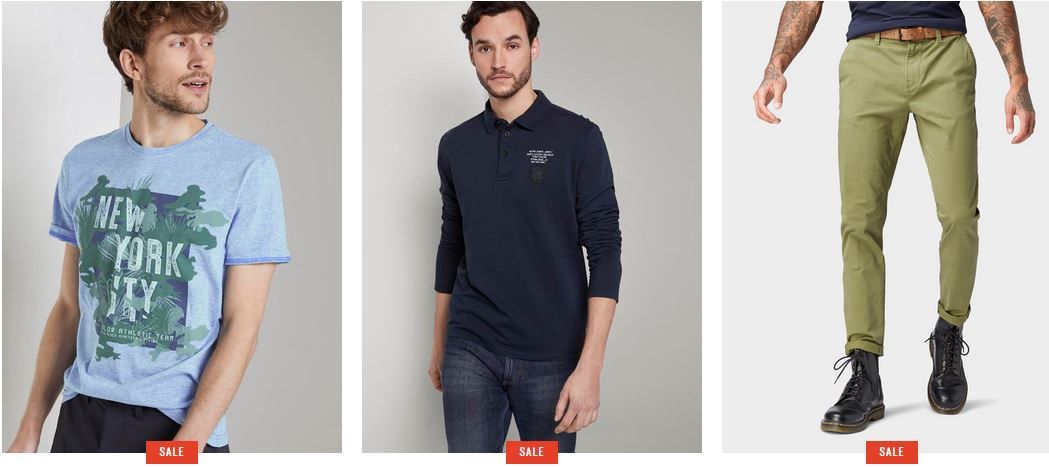 Top! Tom Tailor Flash Sale mit 24% extra Rabatt + 0,99€ VSK
