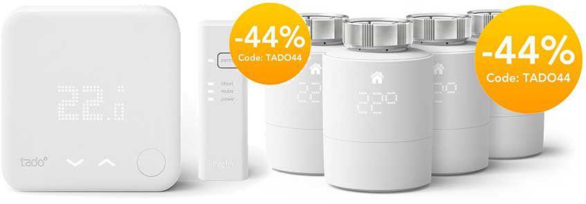 44% Rabatt auf tado Heizkörperthermostate & mehr z.B. Doppelpack Thermostat für 83,99€ (statt 130€)