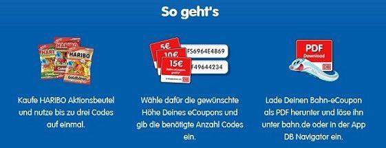 Mit Haribo bis zu 15€ Bahn eCoupon sichern