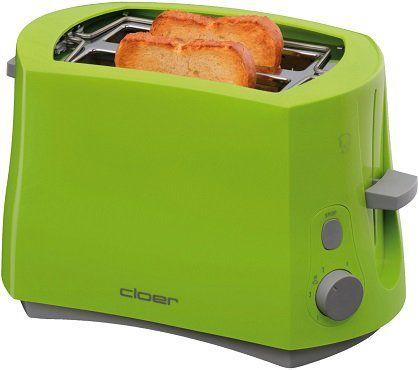 CLOER 3317 4 Toaster in grün (825 Watt) für 24,37€ (statt 32€)