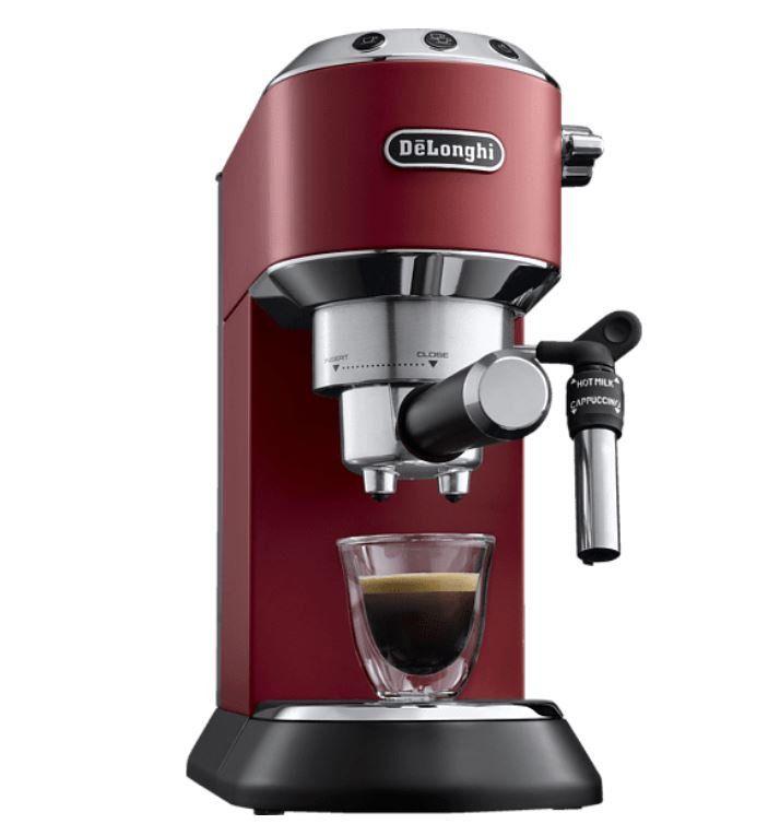 Delongi EC 685.R Dedica Espressomschine + Milchaufschäumer EMF2 Latte für 158,99€ (statt 202€)
