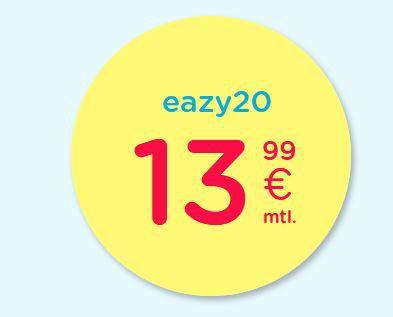 eazy Internet-Zugang (Vodafone) mit 20 Mbit/s für 13,99€ mtl. – oder 40 Mbit/s für 17,99€