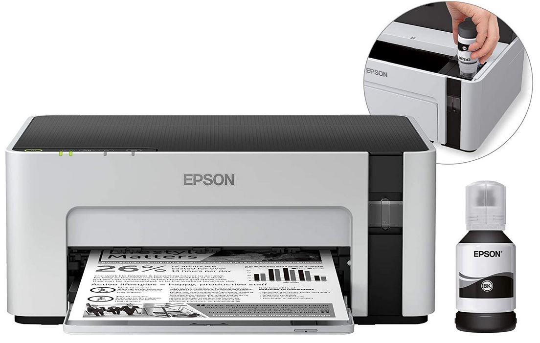 EPSON EcoTank ET M1120 Tintenstrahl Drucker WLAN für 129€ (statt 149€)