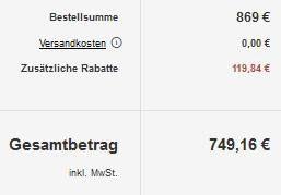RÖSLE 25322 BBQ Island Videro G4 SL Edelstahl Gasgrill für 749,16€ (statt 854€)