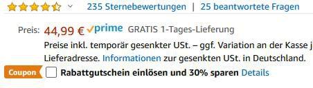 Baseus 65W USB C Steckdosen Ladegerät mit GaN Technologie für 22,49€ (statt 30€)