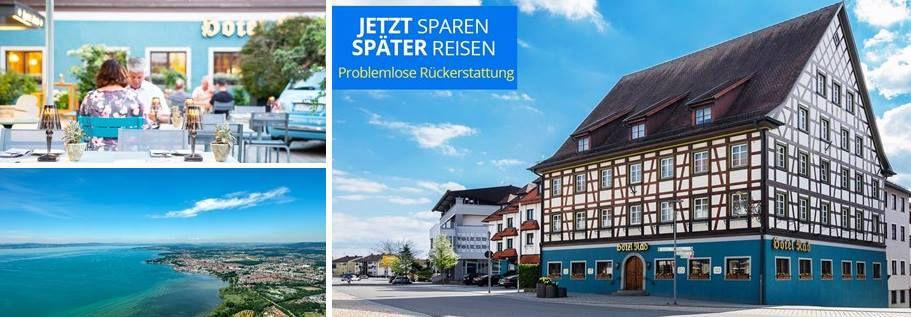 Nahe Bodensee: 2 ÜN in Fachwerk Hotel inkl. Frühstück ab 89€ p.P.