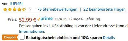 Juemel M8828 20V Akkuschrauber &  bohrer für 37,09€ (statt 53€)