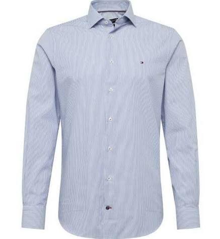 Tommy Hilfiger Slim Fit Business Hemd in navy für 47,92€ (statt 70€)