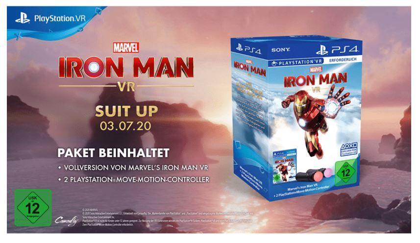 Vorbesteller: Marvel's Iron Man VR + Playstation Move Controller Bundle für 97,47€ (statt 133€)