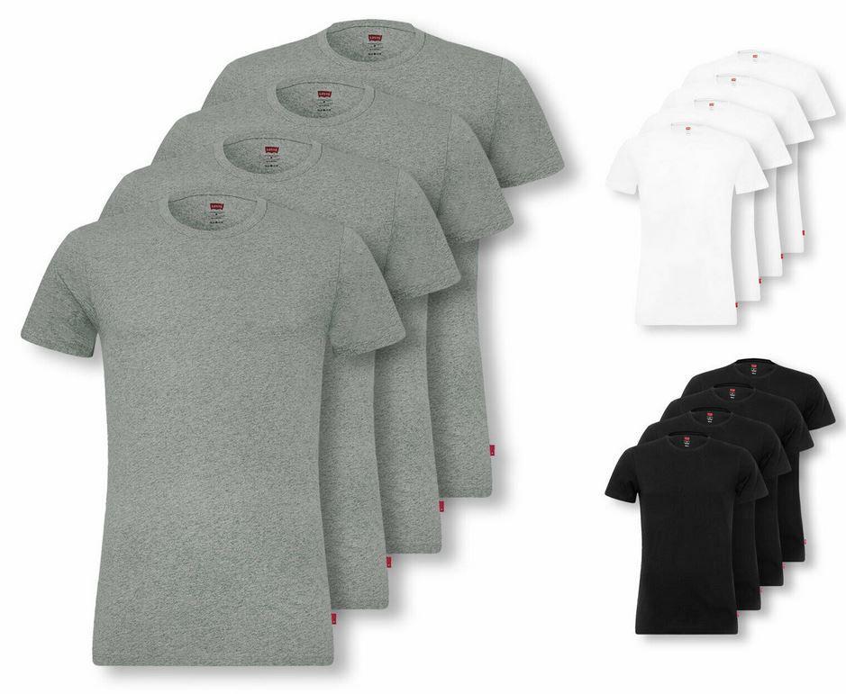 Levi's Herren 4er Pack T-Shirts: Crew Neck u. V-Neck für 36,99€ (statt 42€)