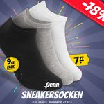 Penn Sneaker Socken 40-46 im 9er Pack für 11,72€  (statt 19€)