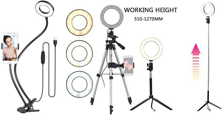 Verschiedene Andoer LED Ringlichter mit Stativ ab 13,49€   aus CZ