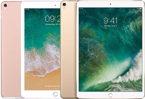 Apple iPad Pro 10,5 Zoll (2017) mit 512GB in Rose oder Gold für je 569€ (statt 713€)