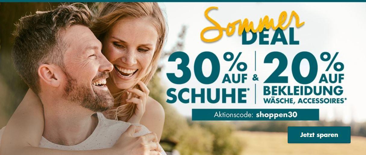 Galeria Sommer Deal: 30% Rabatt auf Schuhe   20% auf Bekleidung & Co. bis Mitternacht