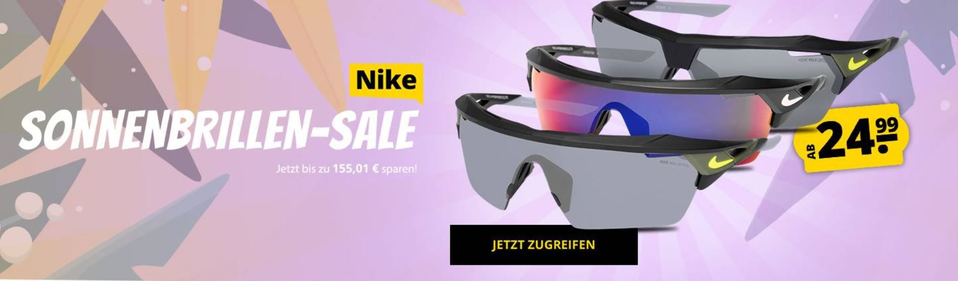 Nike (Sport) Sonnenbrillen ab 24,99€ (statt teilweise 90€) oder Calvin Klein ab 36,99€