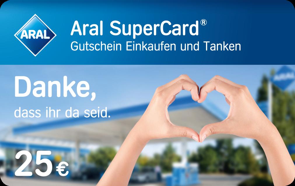 25€ Aral Supercard geschenkt für alle (!) Reinigungskräfte