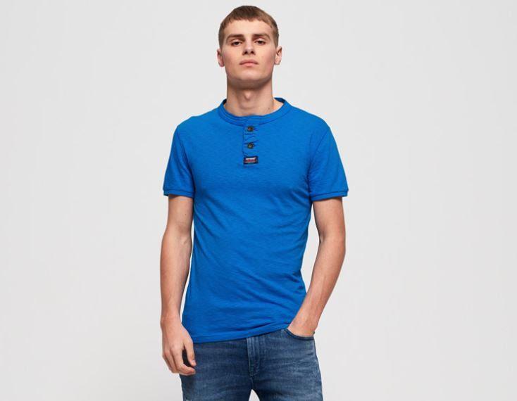 Superdry Herren Vintage Shirt Küstenblau für 13,95€ (statt 17,50€)