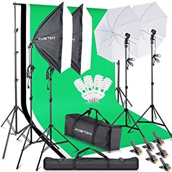 Fositan LS2200 Fotostudio Set mit Softbox, Greenscreen & mehr für 79,99€ (statt 150€)