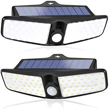 LED Solar Außenstrahler mit 100 LEDs & Bewegungsmelder für 19,99€ (statt 33€)