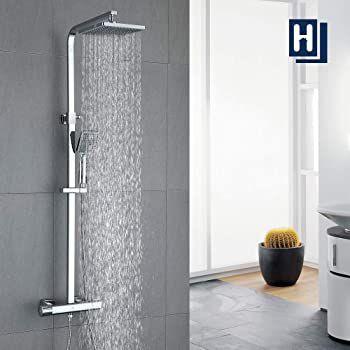 Homelody FTF5142CE Duschsystem mit Thermostat inkl. Hand  & Regenbrause für 99,99€ (statt 119€)