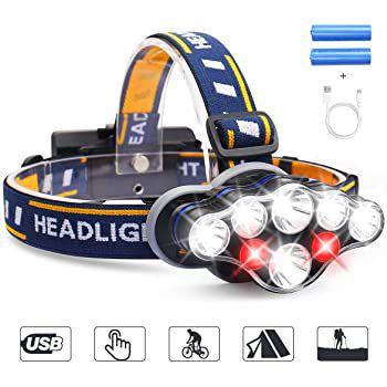 MOSFiATA YH C08 Stirnlampe mit 8 LEDs & 1300 Lumen für 11,99€ (statt 20€)
