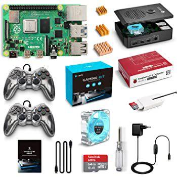 LABISTS Raspberry Pi 4 Model B Gaming Kit mit 4GB, 64GB SD Karte & 2 Controller für 94,24€ (statt 145€)