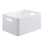 3x Rotho Country Aufbewahrungskiste 18 Liter in Rattan-Optik Weiß für 17,99€ (statt 23€)