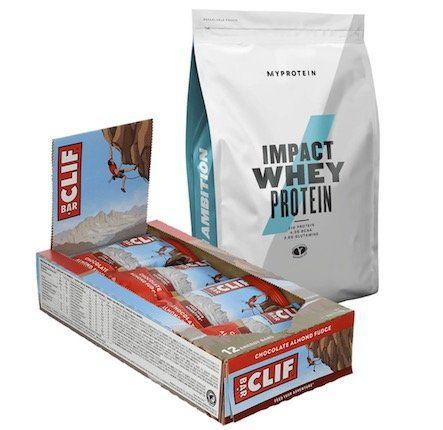 2kg Myprotein Impact Whey Protein (MHD) + 24x Clif Bar Chocolate für 40€ (statt 55€)
