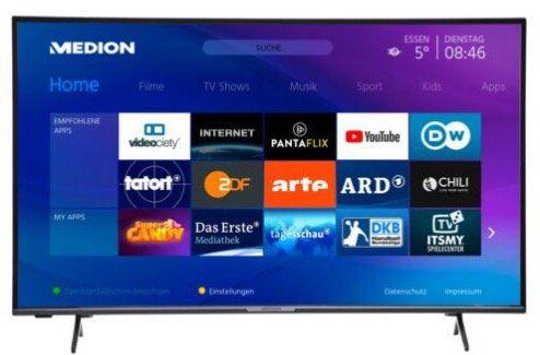 Medion X14311   43 Zoll UHD Fernseher für 249,99€ (statt 281€)