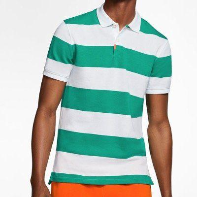 NIKE gestreiftes Poloshirt The Nike Polo in 2 Farben als Unisex Variante für 32,53€ (statt 60€)