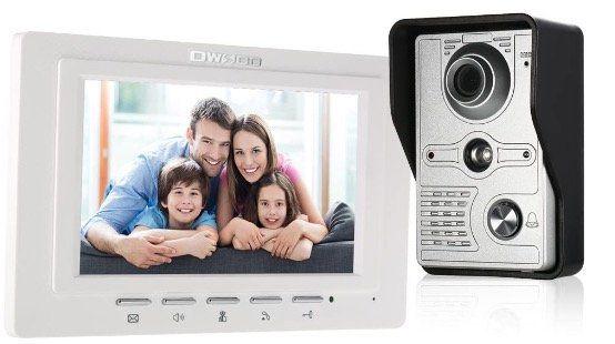 OWSOO 7 Zoll Video Türsprechanlage mit Infrarot Nachtsicht und  Zwei Wege Gegensprechanlage für 65,99€ (statt 86€)