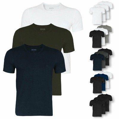 3er Pack HUGO BOSS Herren T-Shirts in unterschiedlichen Ausführungen für 31,96€ (statt 40€)