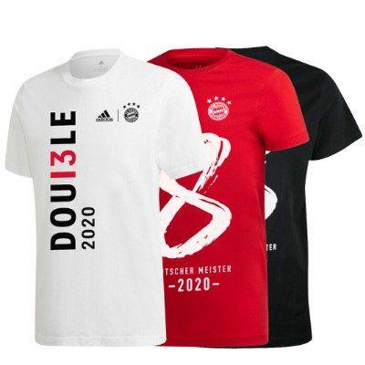 adidas Bayern München Double, Pokalsieger oder Deutscher Meister 2020 T Shirts für jeweils 22,95€