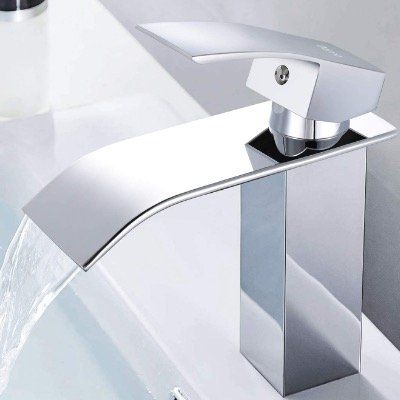 Dalmo Wasserfall Waschtischarmatur aus verchromtem Messing mit keramischem Ventilkern für 25,99€ (statt 40€)