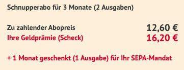 3 Ausgaben Men's Health Abo für nur 12,60€ + Prämie: 16,20€ Verrechnungsscheck
