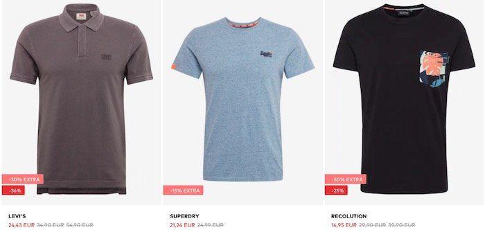 Endet um Mitternacht: About You bis  50% auf Shirts & Shorts   z.B. Levis Jeans Shorts für 37€ (statt 52€)