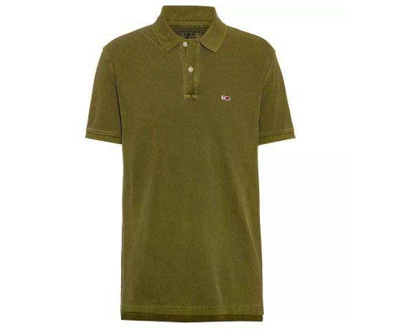 Tommy Jeans Poloshirt in Olivgrün für 29,93€ (statt 46€)