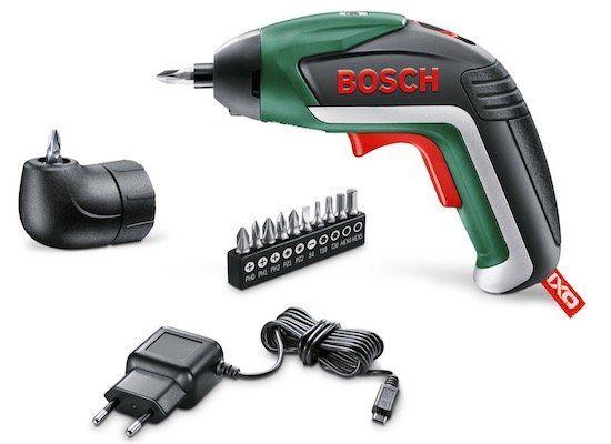 Bosch IXO V Akkuschrauber 3,6V mit Winkeladapter ab 29,99€ (statt 59€)   bei 2 Stück keine VSK