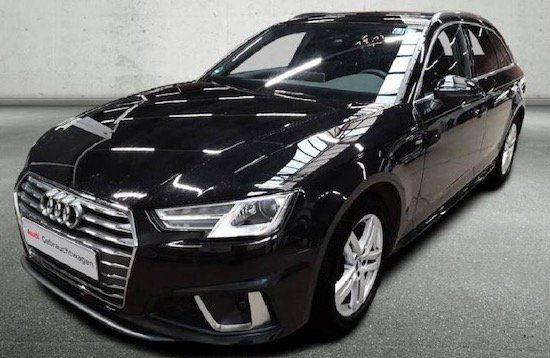 Gebraucht + Inzahlung: Audi A4 Avant Sport S Line 35 TDI mit 150 PS inkl. 8 Fach Bereifung im Leasing für 179€ mtl.